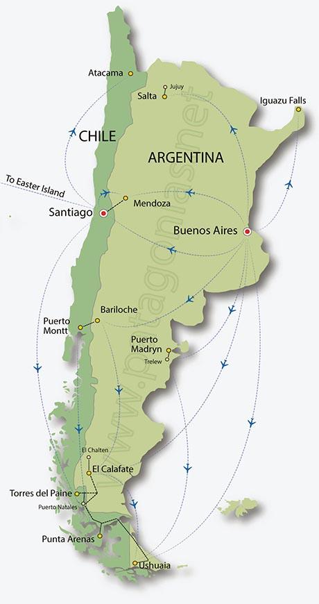 map of patagonia chile Map Of Patagonia Chile And Argentina Maps map of patagonia chile